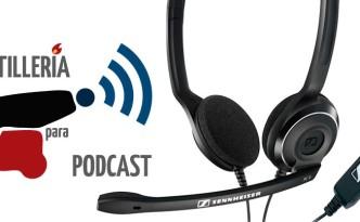 Micrófono Sennheiser PC8 en Artillería para Podcast