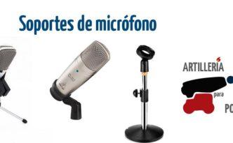 Soportes de micrófono en Artillería para Podcast